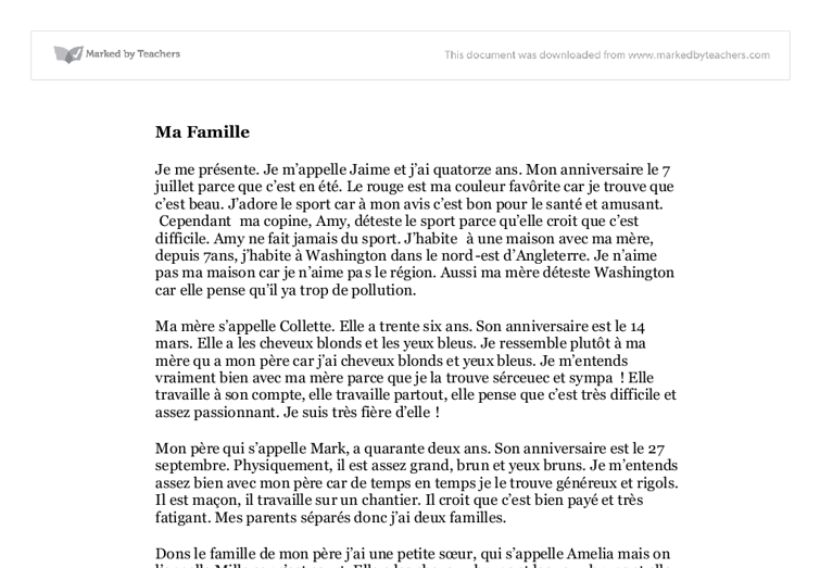 essay about france in french