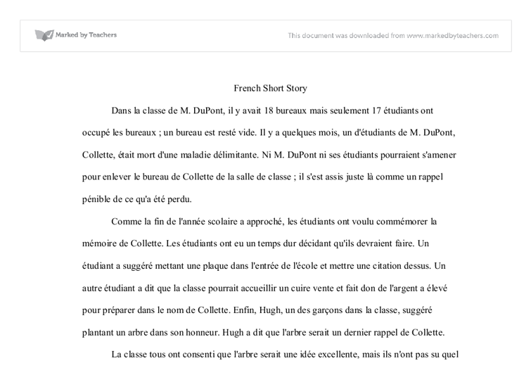 as level french essay writing