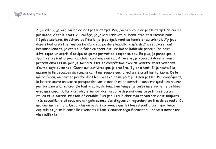 french essays on vacations French school extracts from this the candidate has responded very well to the prompt to write about her school related gcse french essays mon college.