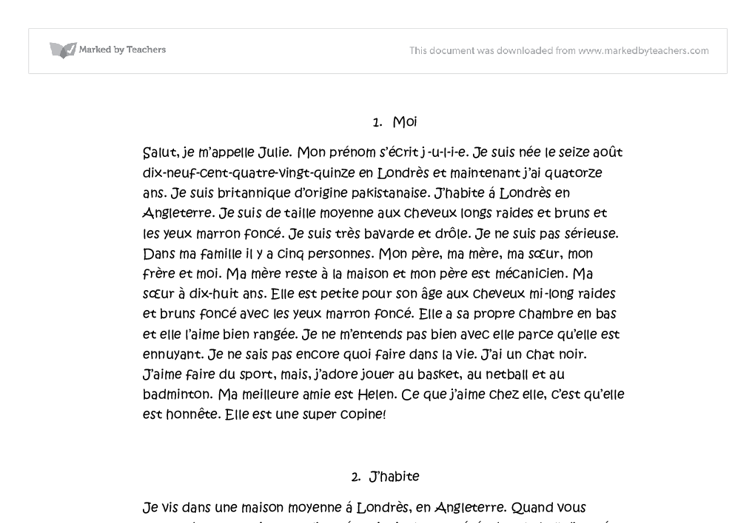 essay about my house in french My father essay in french, my father tried in french, , , translation, human translation, automatic translation.
