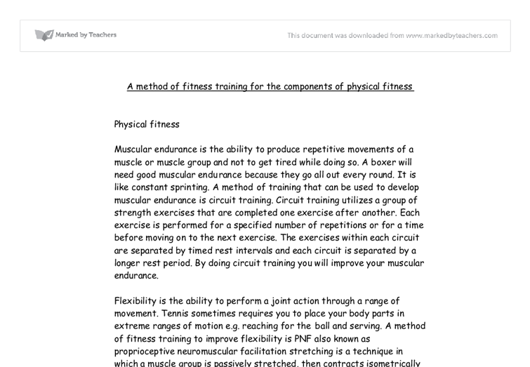 importance of physical fitness essay