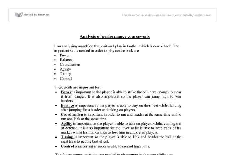 gcse pe coursework section 1 Athletes' performance in sport with this bbc bitesize gcse pe (aqa) study  guide  static – in one place – eg performing a crucifix in gymnastics dynamic.