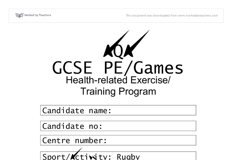 gcse physical education coursework
