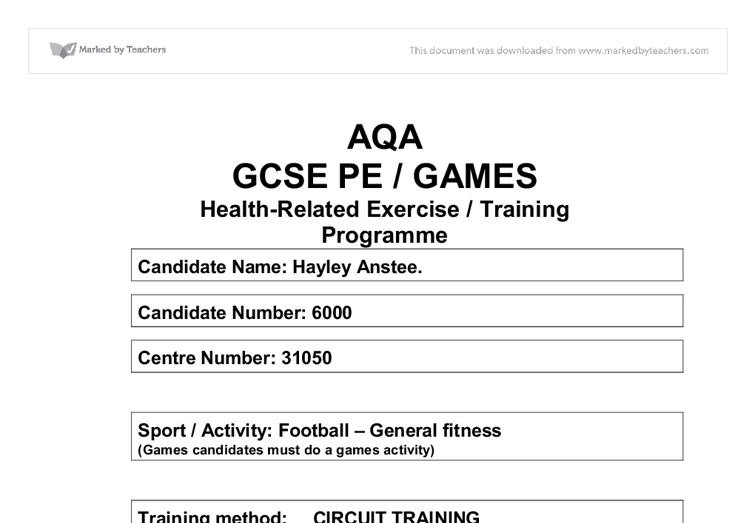 Physical Education free full essays download