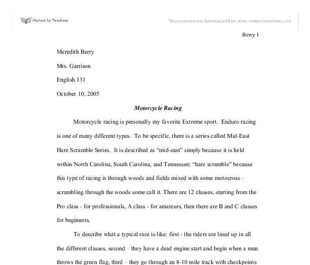 Motorcycle safety essay