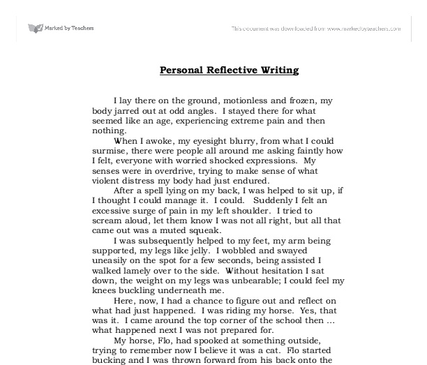 self reflection evaluation essay
