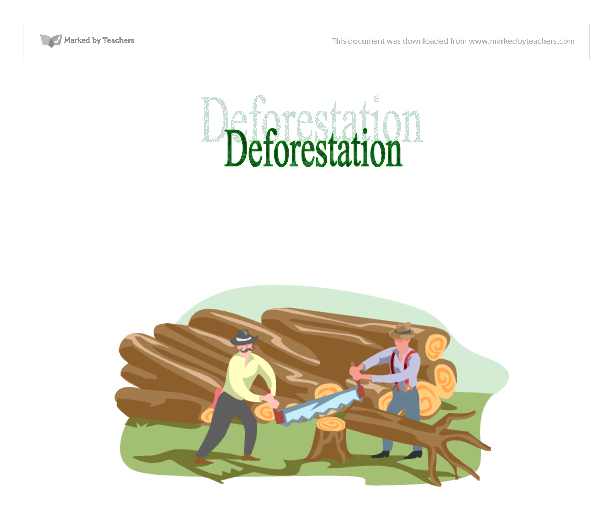 Essays about deforestation