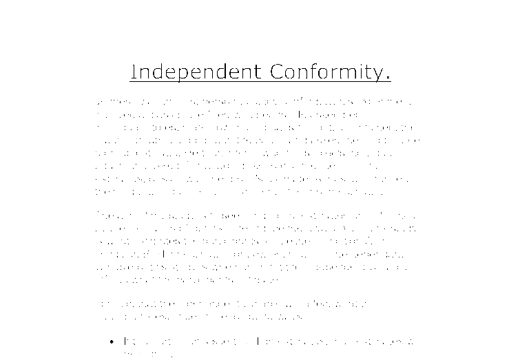 Declaration of Conformity Example