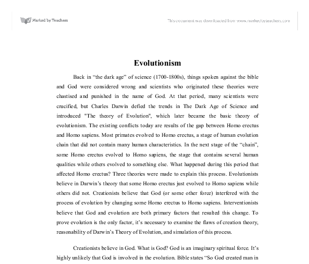 argumentative essay creation vs evolution Creation versus evolution essay - leave behind those sleepless nights writing your essay with our academic writing assistance why be concerned about the review apply for the necessary help on the website essays & researches written by high class writers.