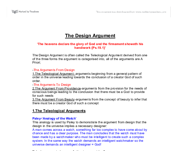 argument design essays