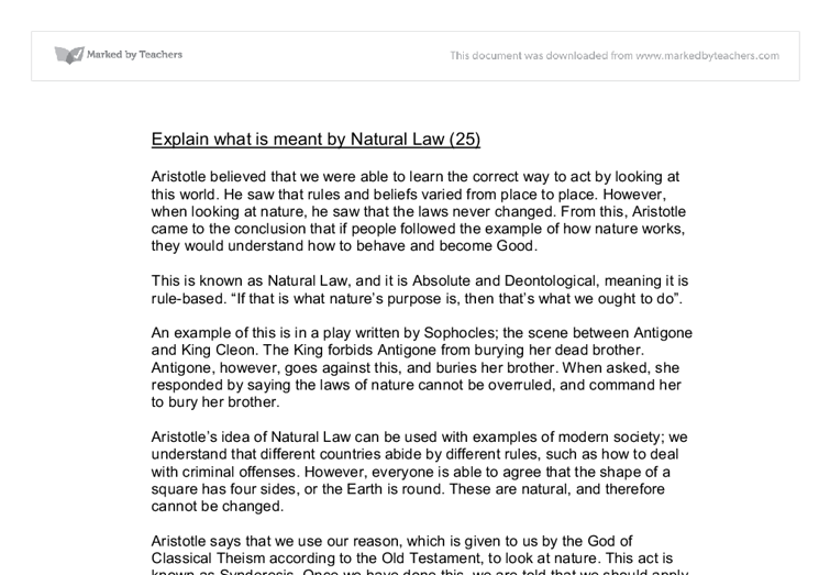 explain the strengths of natural law theory essay Robert p george,natural law, the constitution, and the theory and practice of natural rights, natural law in particular, hadley arkes' essay, lochner.