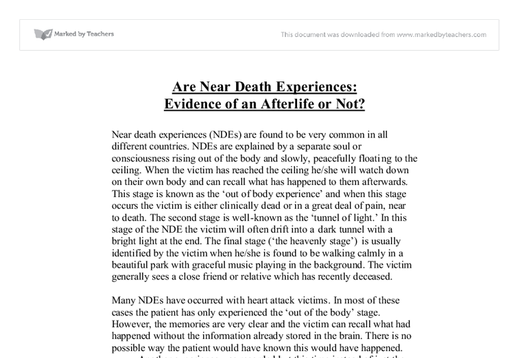 Near death essays
