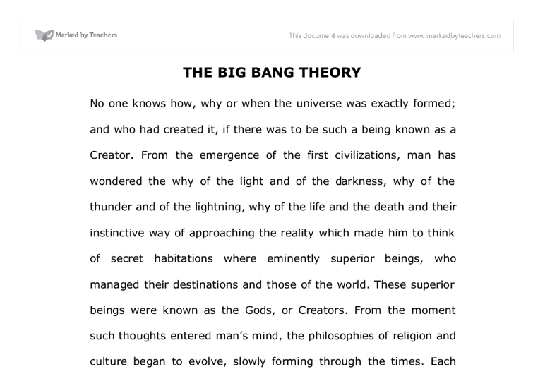the big one essay