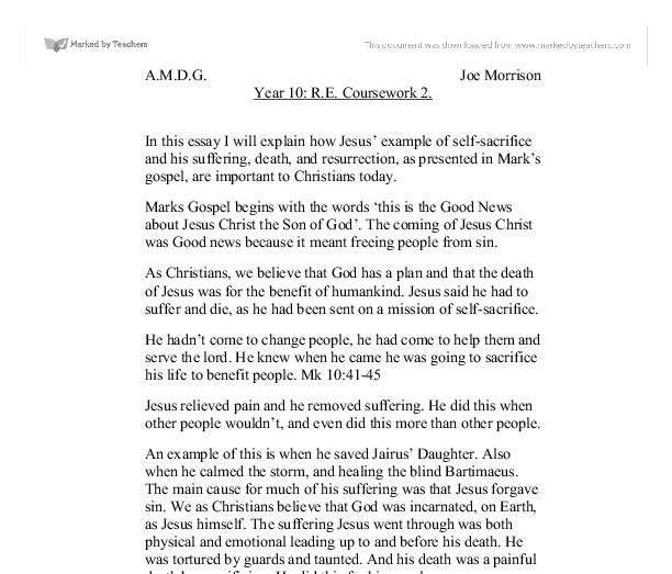 essay on who is jesus christ and what is his Jesus in christianity jesus (on the left) the beginning of the gospel of jesus christ, the son of god, provide jesus with the two distinct attributions as christ and as the son of god his divinity is again re-affirmed in mark 1:11.