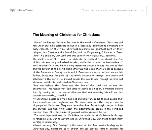 short essay on christmas festival for kids