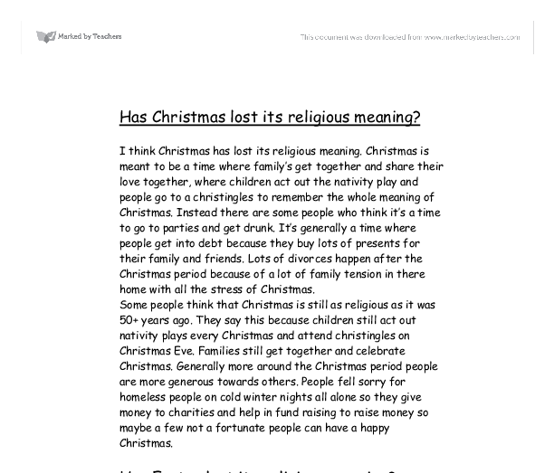 christmas has lost its meaning Losing the meaning of christmas but the real surprise for me is that 519% of 'non-christians' think that the true meaning of christmas has been lost.