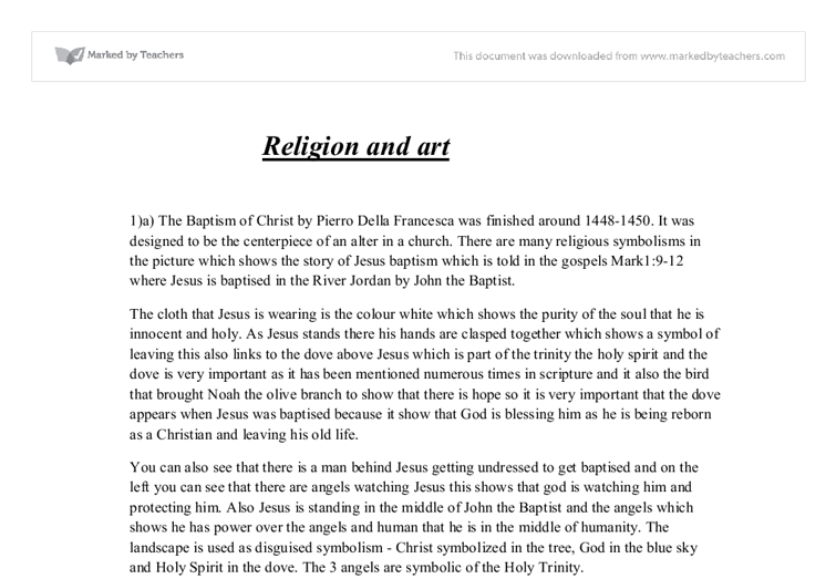 art and religion essay Essays, term papers, book reports, research papers on religion free papers and essays on christian art we provide free model essays on religion, christian art.