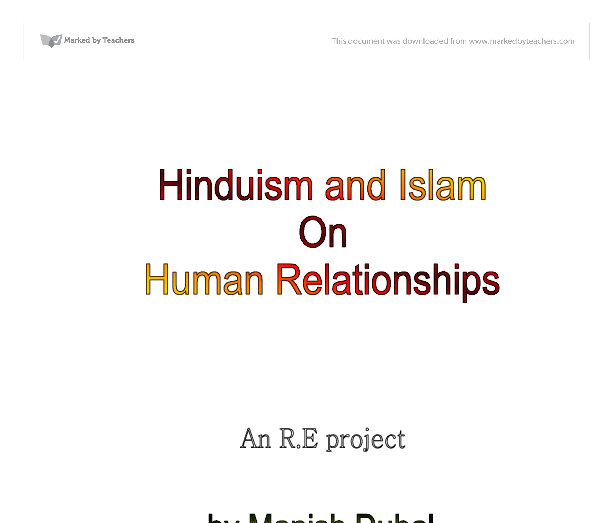 Essay HELP on Hinduism and Islam?