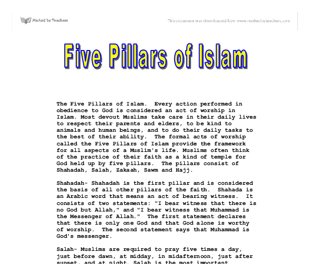 what islam bestows to humanity religion essay Get an answer for 'can you help me with a good thesis statement to write an essay about how has terrorism become associated with islam' and find homework help for other religion questions at enotes.