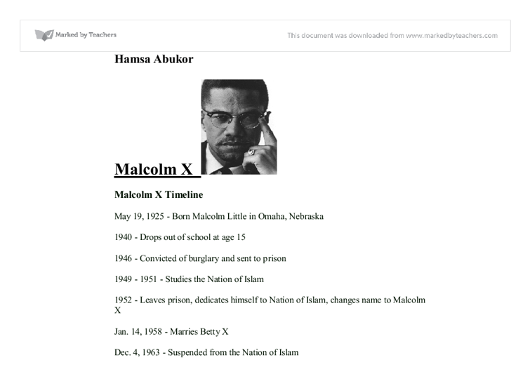 Examine the importance of reading in changing Malcolm X's life.