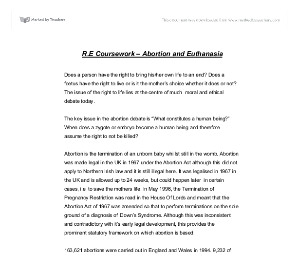 gcse re coursework abortion Religious studies coursework abortion found what you're looking for related gcse abortion and other medical issues essays.