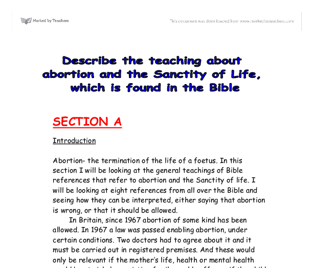 abortion exploratory essay