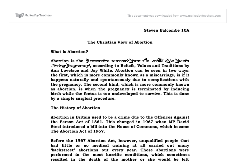 abortion should be abolished essay Check out the online debate abortion should be legal under certain circumstances.
