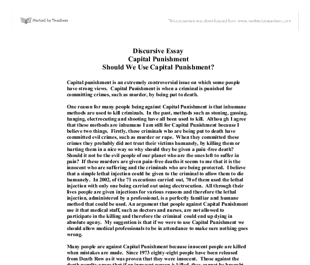 exploratory paper on death penalty View essay - unformatted exploratory research essay (1) the united states implemented the death penalty aimed at deterring violent crime through.