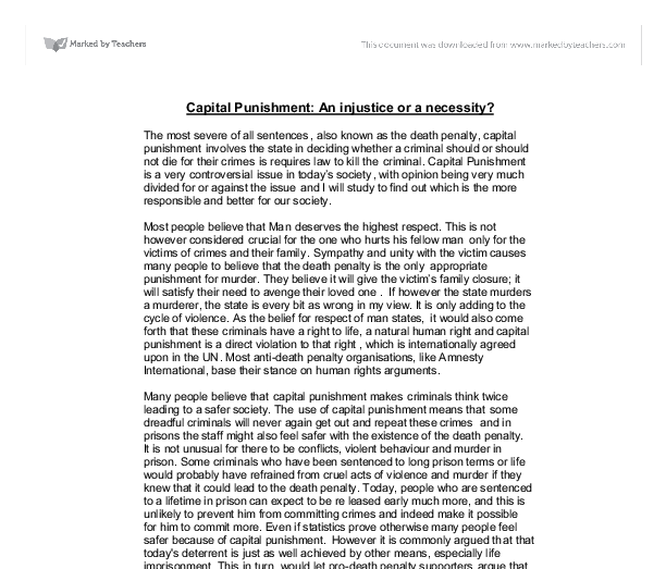 "a look at the issues of whether capital punishment should be used on criminals or not Catholicism & capital punishment revolution"" on the issue of capital punishment he made it clear that capital punishment should not be equated."