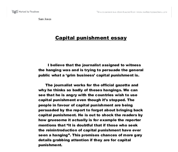 Why capital punishment is wrong essay
