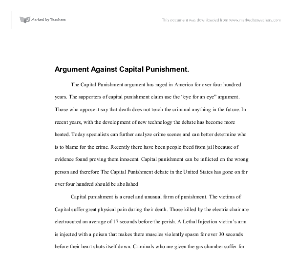 Capital punishment history essay