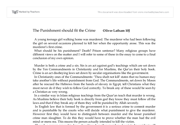 punishing hate crimes my opinion essay An essay on crime and punishment by cesare becarria wwwthefederalistpapersorg page 2 table of contents preface of the translator.