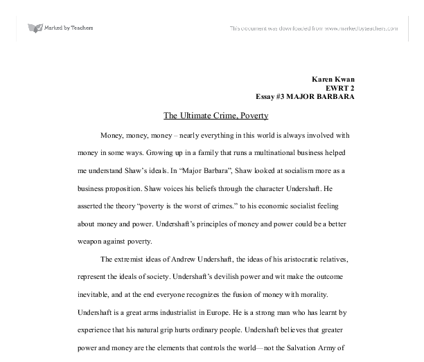 money is power essay