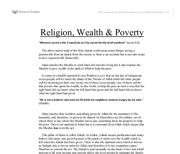 catholic teaching on wealth and poverty essay