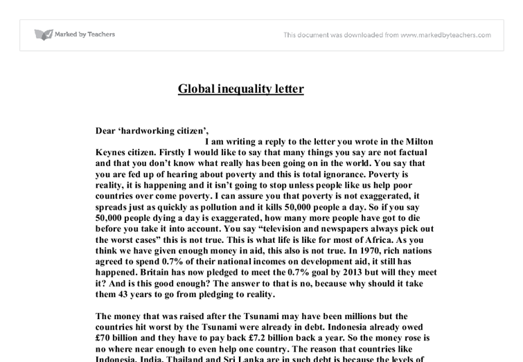 Global inequalities essay