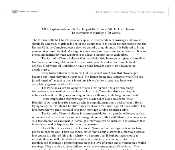 """marriage sacrament essay As we begin our first essay, """"a biblical and theological framework for thinking about marriage,"""" we make it clear that we approach the subject of marriage the articles of religion decline to name matrimony a sacrament (as it """"lacks any visible sign or ceremony ordained of god""""), and classify it as an estate allowed."""
