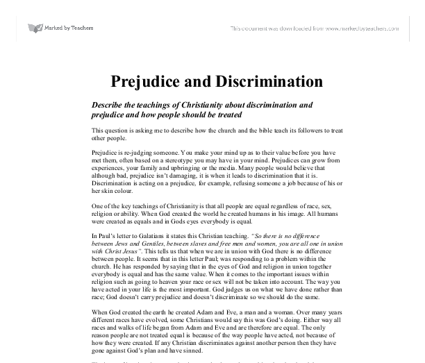 "stereotyping prejudice and discrimination essay Prejudice is linked to discrimination but prejudice is an attitude whereas discrimination is the action associated with that attitude"" prejudice 2001) many times we dislike something or someone just because they look or act differently from us."