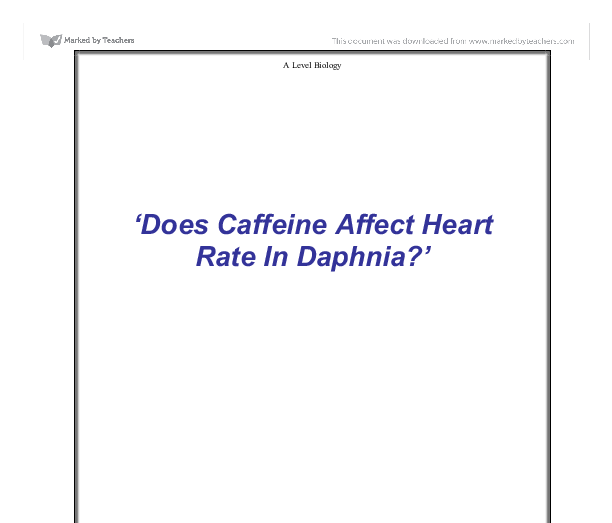 the effects of caffeine on the heart rate of daphnia essay The effects of caffeine on the heart rate of daphnia essay by admin the best papers 0 comments this lab was designed to demo how caffeine affected the bosom rate of water flea after exposing them to different concentrations of caffeine for 10 proceedingss.