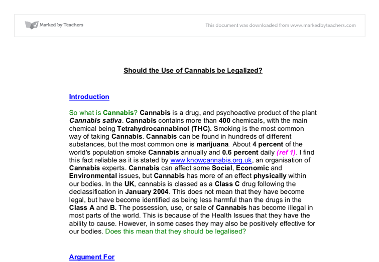 science in the news coursework cannabis