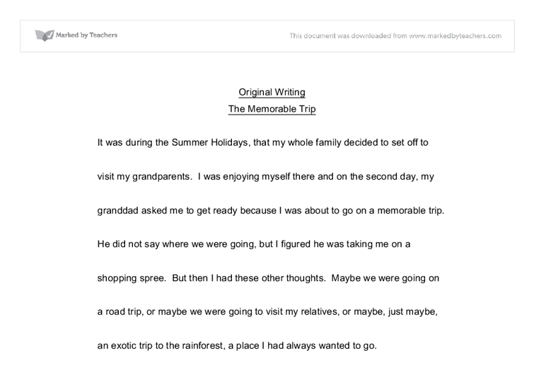 A frightening experience narrative essay