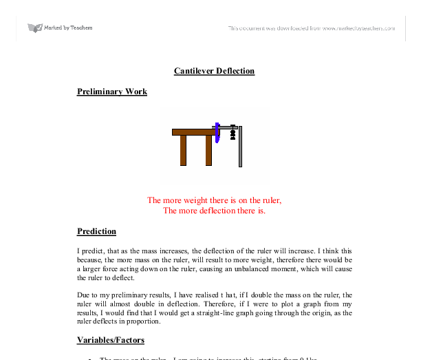 "cantilever beam essay A numerical simulation was conducted to simulate the ""stress-averaging"" mechanism of a pvdf sensor attached on a cantilever beam  to view the mdpi."