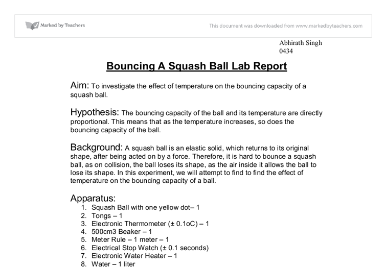 gcse physics coursework bouncing balls Gcse gateway science j261-j265  physics formulae sheets  (data from the bouncing balls experiment they have already collected could be used.