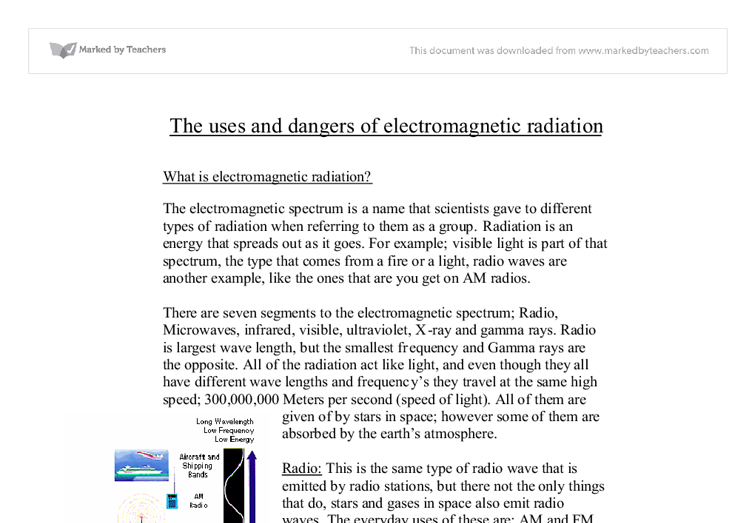 the uses and dangers of electromagnetic radiation gcse science  document image preview