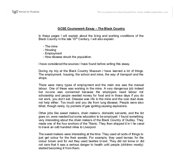 year gcse coursework essay the black country gcse sociology  document image preview