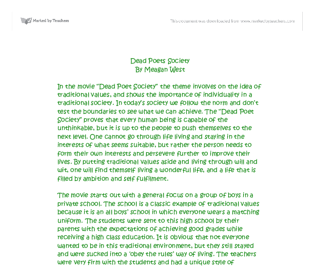 Free dead poets society Essays and Papers - 123HelpMe com