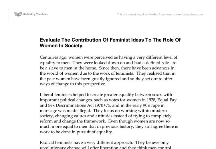 womens role in the society essay