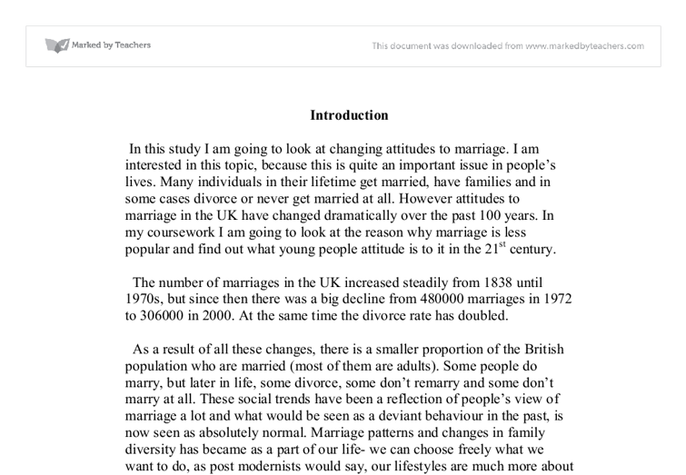how attitudes to marriage have changed essay Marriage culture in the united states one aspect of american culture that has changed the pros and cons of marriage today essay - the institution of marriage.