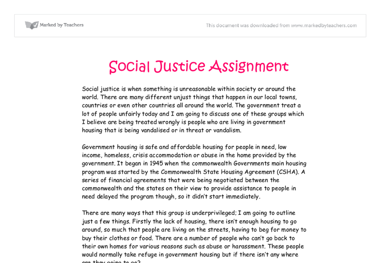 essays on social justice Sociology essay - in sociology, the term social class is most often used to refer to the primary system of social stratification found in modern capitalist societies.