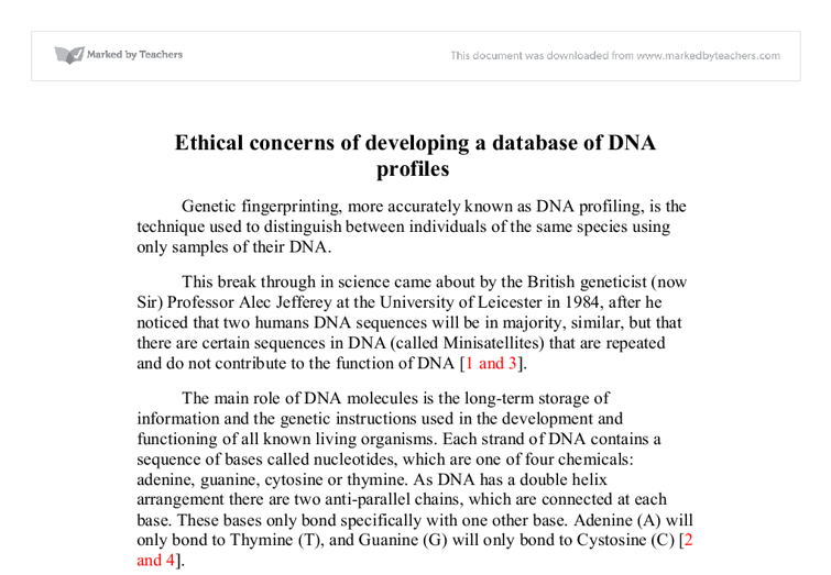 pos and neg of dna profiling essay