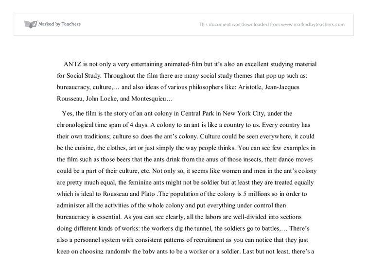 antz is not only a very entertaining animated film but its also an  document image preview